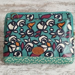 Fossil Teal Tablet Case Clutch Pouch